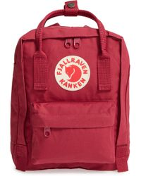 Fjallraven - 'mini Kanken' Water Resistant Backpack - Purple - Lyst