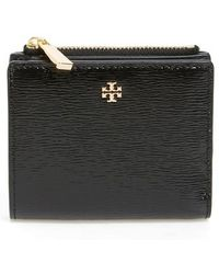 Tory Burch - Mini Robinson Wallet Patent Leather Bifold Wallet - Lyst