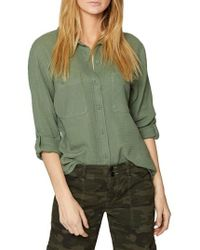 Sanctuary - Steady Boyfriend Roll Tab Shirt - Lyst