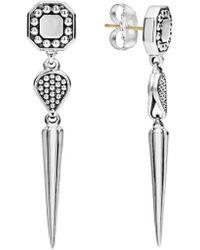 Lagos - Signature Caviar Triple Drop Earrings - Lyst
