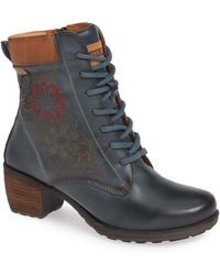 Pikolinos - Le Mans Embroidered Lace-up Bootie - Lyst