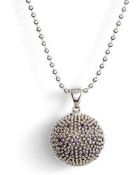 Lagos - Signature Gifts Pave & Gemstone Ball Pendant - Lyst