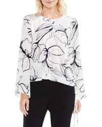 Vince Camuto | Bell Sleeve Fresco Petal Blouse | Lyst