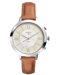 Fossil Q - Jacqueline Leather Strap Hybrid Smart Watch - Lyst