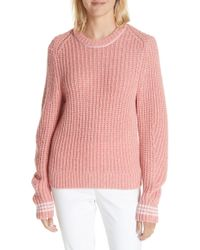 Rag & Bone - Cheryl Stripe Cuff Wool Blend Sweater - Lyst