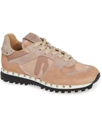 1e9c85e42bd Lyst - Valentino Flycrew Rockstud Sneaker