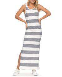 Roxy - Tuba Stripe Tank Dress - Lyst