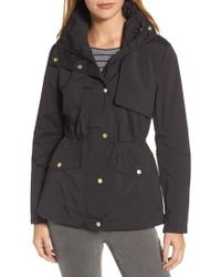 Cole Haan - Packable Raincoat, Black - Lyst