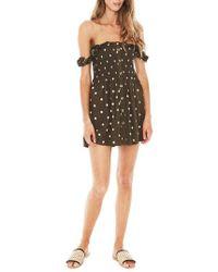 Faithfull The Brand - Mika Polka Dot Off The Shoulder Dress - Lyst