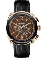 INGERSOLL WATCHES - Ingersoll Michigan Leather Strap Chronograph Watch - Lyst