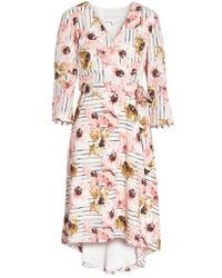 Charles Henry - Floral High/low Dress - Lyst