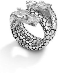John Hardy | 'legends' Dragon Coil Ring | Lyst