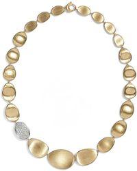 Marco Bicego - 'lunaria' Diamond Pave Collar Necklace - Lyst