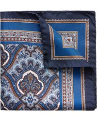 Eton of Sweden - Paisley Silk Pocket Square - Lyst