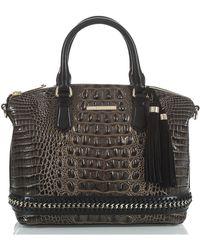 Brahmin - Duxbury Chain Trim Leather Satchel - - Lyst
