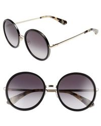 Kate Spade - Lamonica 54mm Gradient Lens Round Sunglasses - Lyst