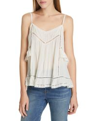ecbae84051921 Lyst - Ted Baker Maidai Poppy Woven   Knit Top in White