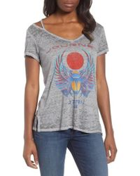 Lucky Brand | Journey Cold Shoulder Tee | Lyst