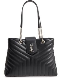 Saint Laurent - Large Loulou Matelasse Leather Shopper - Lyst