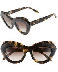 Valley Eyewear - De La Luna 46mm Gradient Cat Eye Sunglasses - Indio Tortoise/ Brown Gradient - Lyst
