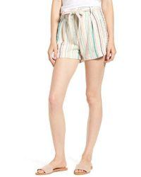 Splendid - La Paz Stripe Twill Shorts - Lyst