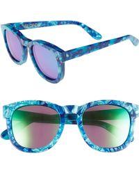 b1f417d36a5c5 Wildfox - Classic Fox - Deluxe 59mm Sunglasses - Monterey  Green Mirror -  Lyst