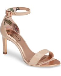 5c41ebee1c8 Lyst - Ted Baker  caiye  Ankle Strap Sandal in Pink