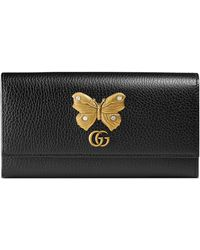 8450646688f3 Gucci Microguccissima Leather Chain Wallet in White - Lyst