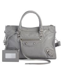 Balenciaga - Small Classic Metallic Edge City Leather Tote - - Lyst