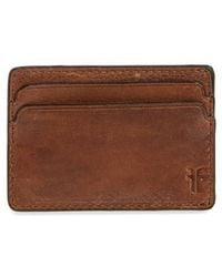 Frye - Oliver Leather Card Case - - Lyst