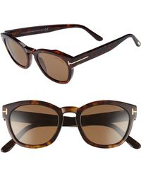 852c4daf73 Lyst - Tom Ford Bryan Rounded Plastic Sunglasses in Blue for Men