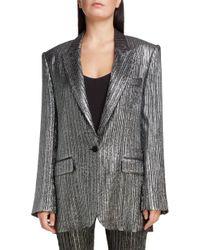 Isabel Marant - Oversized Lurex Jacket - Lyst