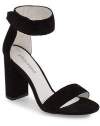 Jeffrey Campbell - Lindsay Suede Ankle Strap Sandals - Lyst