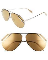 Alexander McQueen - 65mm Snip Frame Aviator Sunglasses - Lyst