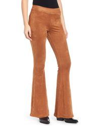 Love, Fire - Faux Suede Flare Pants - Lyst