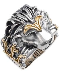 Konstantino - Carved Lion Ring - Lyst