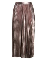 Trouvé - Metallic Pleated Skirt - Lyst