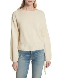 Vince - Scrunch Sleeve Wool & Cashmere Hoodie - Lyst