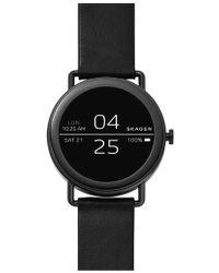 Skagen - Falster Touchscreen Leather Strap Smart Watch - Lyst