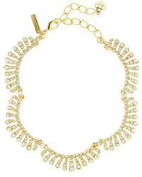 Oscar de la Renta - Crystal Collar Necklace - Lyst