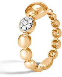 John Hardy - Dot Hammered 18k Gold & Diamond Pave Ring - Lyst