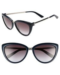 Calvin Klein - 56mm Cat Eye Sunglasses - Navy - Lyst