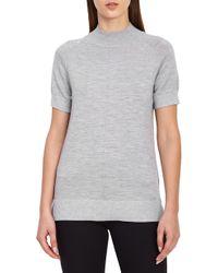 Reiss - Wool Blend Metallic Short Sleeve Sweater - Lyst