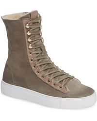 Blackstone - Ql50 Genuine Shearling Lined High-top Sneaker Boot - Lyst