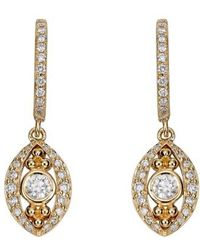 Temple St. Clair - Temple St. Clair Evil Eye Diamond Drop Earrings - Lyst