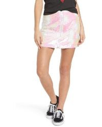 Obey - Kool Thing Sequin Skirt - Lyst