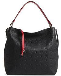 MCM - Klara Monogrammed Leather Hobo Shoulder Bag - Lyst