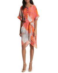 Tracy Reese - Print Henley Silk Dress - Lyst