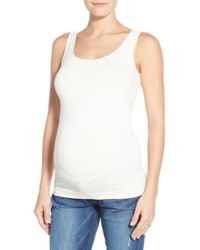 Tees by Tina - Scoop Neck Maternity Tank - Lyst