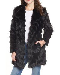 BB Dakota - It's All Happening Faux Fur Coat - Lyst